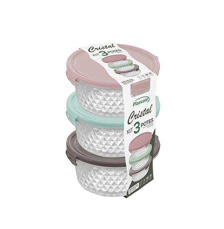 Imagem do produto Kit 3 Potes Cristal 0,55L