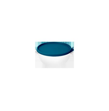 Imagem do produto: Pote 0,5L 4600 - Corpo Transparente + Tampa Azul Petróleo