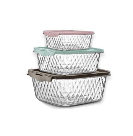 Imagem do produto: Set of 3 Cristal Containers 9010