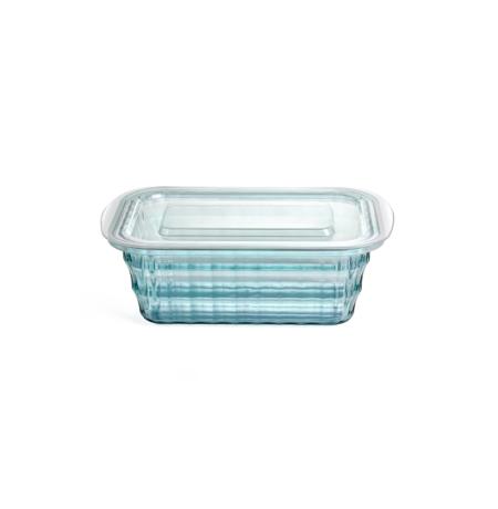 Imagem do produto: Pote Quadrado Cristal P 0,45L 5912 – Azul Turquesa