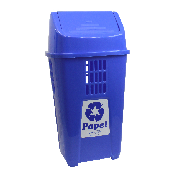 Imagem do produto: Lixeira Basculante Papel 50L 2305 - Azul