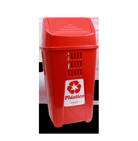 Imagem do produto: Lixeira Basculante 50L Plástico 3611 - Vermelho