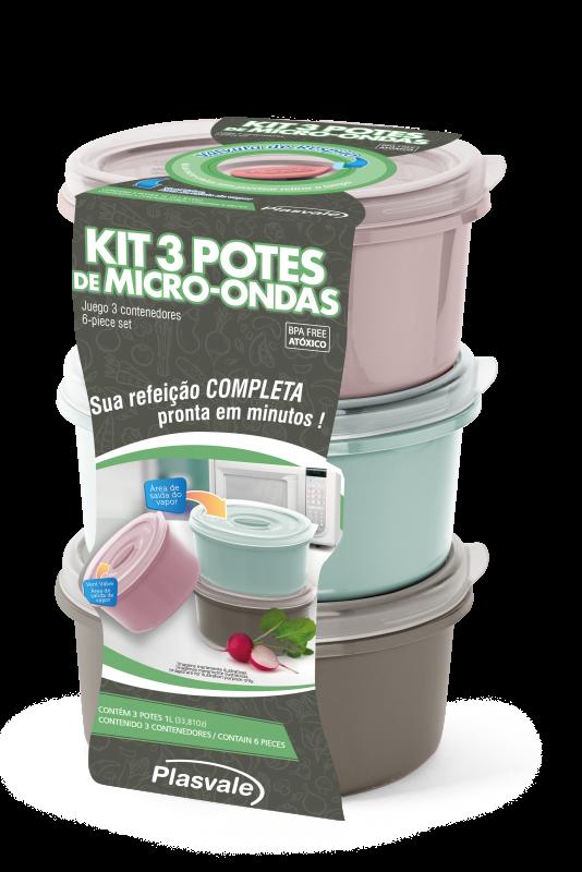 Imagem do produto Kit 3 Potes Wave 1L
