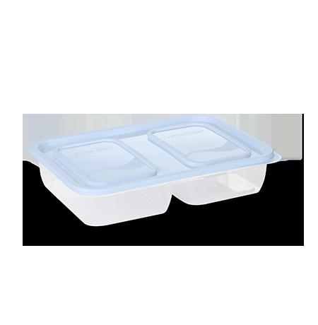 Imagem do produto: Pote 2 Divisórias 1,5L 8300 - Branco