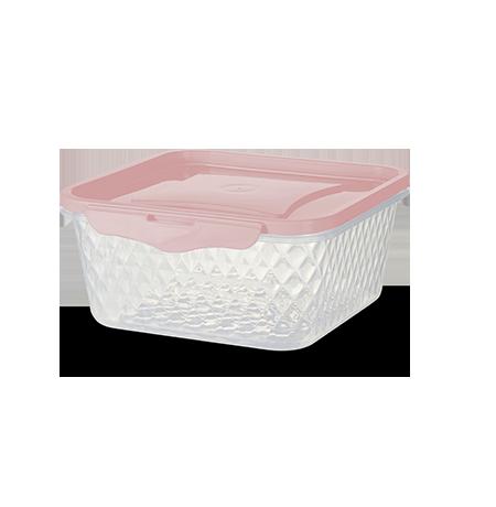 Imagem do produto: Contenedor Cuadrado 1L 3475 - Rosa