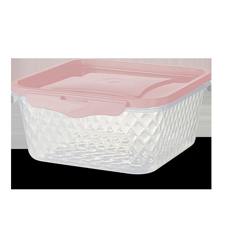 Imagem do produto: Pote Quadrado 1,7L 3475 - Rosa