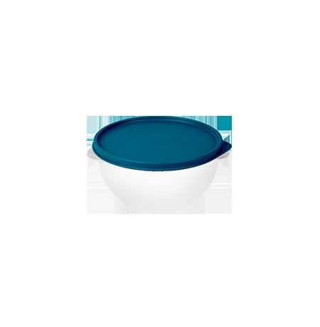 Imagem do produto: Pote 1,9L  4600 - Corpo Transparente + Tampa Azul Petróleo