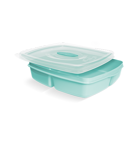 Imagem do produto Contenedor para alimentos con 3 divisiones