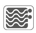 ícone caracteristica Permitido microondas