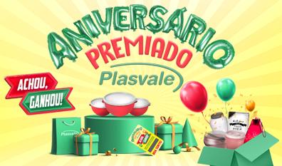 Plasvale celebra 44 anos com raspadinhas 'achou, ganhou'