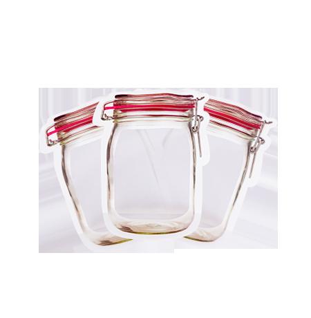 Imagem do produto: Kit 3 Potes Zip M 4600 - Translúcido