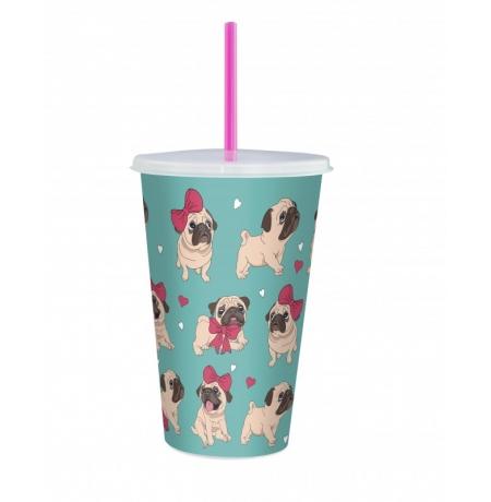 Imagem do produto: Copo com Canudo Cachorros 5908 - Cachorros