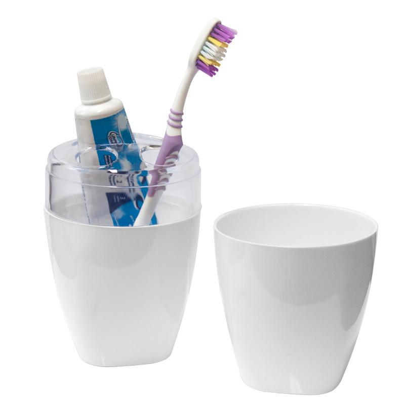 Imagem do produto: Porta Escova de Dente 8888 - Branco PS