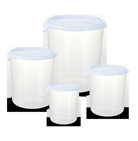 Imagem do produto: Conj. 4 Potes Redondos 8300 -  Branco