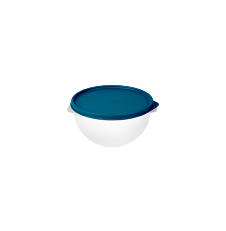 Imagem do produto: Pote 1L  4600 - Corpo Transparente + Tampa Azul Petróleo