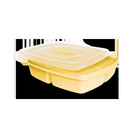 Imagem do produto: Pote 3 divisórias 1,2L 1530 – Amarelo