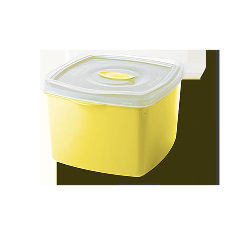 Imagem do produto: Pote Quadrado 2,8L 1530 - Amarelo