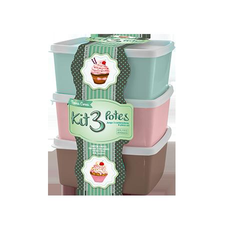 Imagem do produto: Kit 3 potes 0,5L 9010 - Sortido