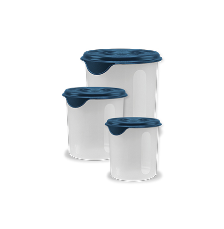 Imagem do produto Kit 3 Potes Mantimentos Cristal 1,4L, 2,3L e 4,1L