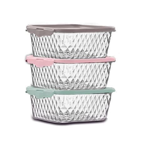 Imagem do produto Set of 3 Cristal Containers 0,55L