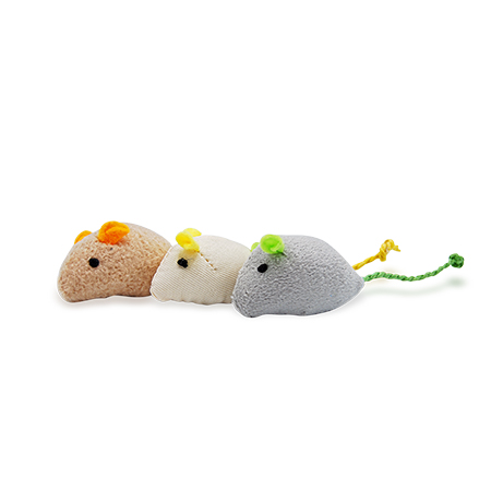 Kit 3 Ratinhos de Pelúcia